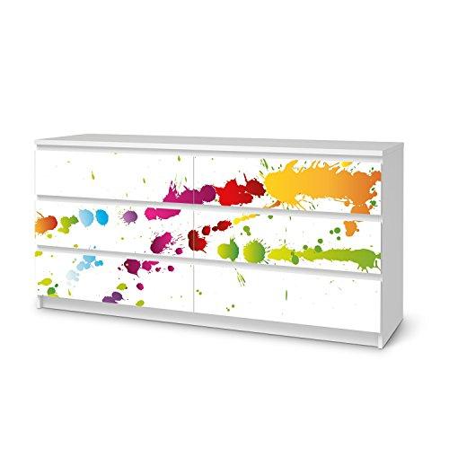 IKEA Malm 6 Schubladen (breit) Möbel-Folie Design Splash 2 Schutz Dekorations-Element