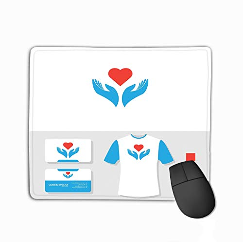 Mouse Pad Love Charity Logo Design Business Card Mockup Love Charity Logo Business Card Mockup Rectangle Rubber Mousepad 11.81 X 9.84 Inch