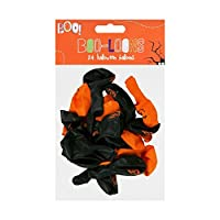 Halloween Balloons  ITP M48149 Party Decoration 24cm x 20cm (at full size) Pack of 24 Black and Orange
