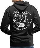 Spreadshirt American Staffordshire Terrier Männer Premium Hoodie, M, Schwarz