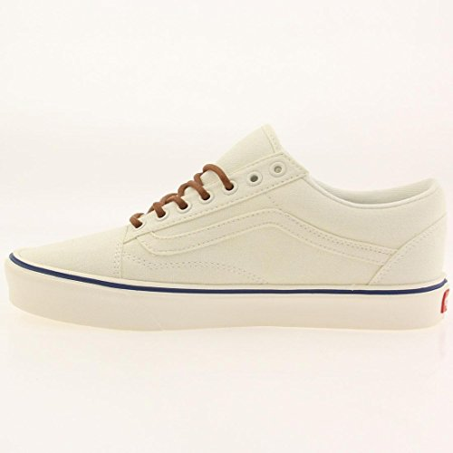 Vans Old Skool Lite Plus Unisex-Erwachsene Sneaker (vintage) classic white