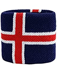 Schweißband Motiv Fahne / Flagge Island + gratis Aufkleber, Flaggenfritze®