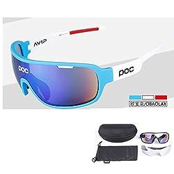 blue white : 2017 Glasses Cycling Sunglasses Do Blade MTB Bike Goggles Men Women UV400 Eyewear 9 Colors MTB Bicycle Sunglasses 2 Lenses
