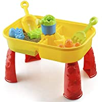 KandyToys Sand and Water Table with Accessories - Kids Outdoor Play Garden Sandpit