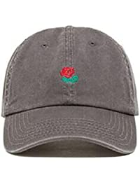 866e86fbff5 Thenice Rose Embroidered Adjustable Strapback Hat Baseball Cap