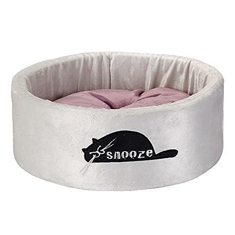 Beeztees Snooze Panier en Peluche pour Chat Gris 40 x