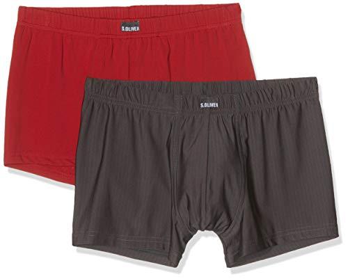 s.Oliver Herren 26.899.97.4239 Boxershorts, Mehrfarbig (Stripe & Solid Red 14b1), X-Large (Herstellergröße: 7) - Cut Boxershorts Unterwäsche