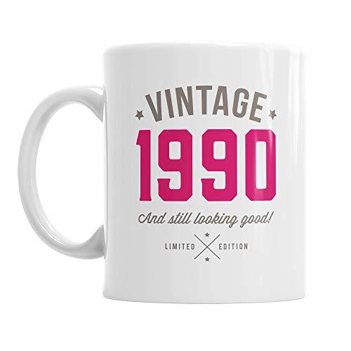 Vintage 1990 Mug Gift for 30th Birthday
