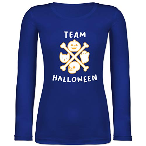 Shirtracer Halloween - Team Halloween - S - Blau - BCTW071 - Langarmshirt Damen