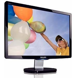 Philips 190CW9FB/00 48,3 cm (19 Zoll) WXGA+ Widescreen LCD Monitor VGA + DVI-D (Kontrastverhältnis dyn. 12000:1, Reaktionszeit 2ms) schwarz