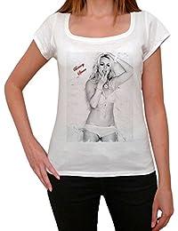 Britney Spears, tee shirt femme, imprimé célébrité,Blanc, t shirt femme,cadeau