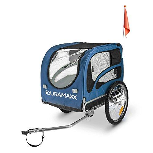 """DURAMAXX King Rex Fahrradanhänger Lasten Hänger Hundehänger (mit Hochdeichsel, Laderaum mit 250 Liter Volumen, belastbar bis 40kg, Kugel-Kupplung für Fahrräder mit 26"""" – 28"""") blau-schwarz - 5"""
