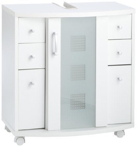 Posseik 5418 76 Waschbeckenunterschrank Nizza (Nizas), weiß