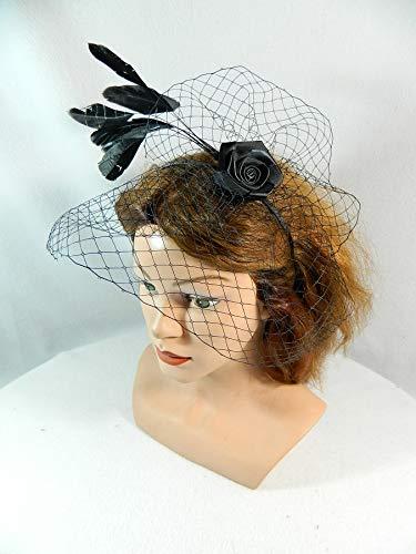 a83d1158087a9a Haarreif Fascinator Birdcage Haarschmuck Kopfschmuck Hochzeit Trauer  Beerdigung