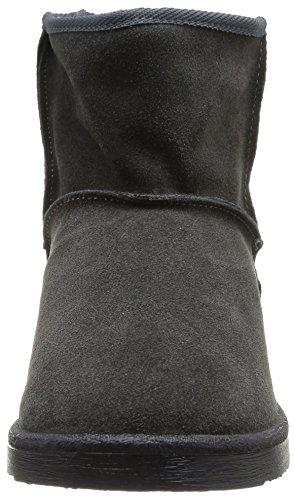 PIECES - Ps Ume Suede Boot Dk Grey, Stivali Donna Grigio (Gris (Dark Grey))