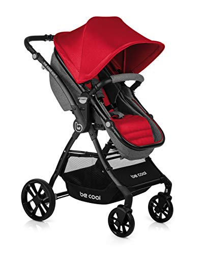 BE COOL Spirit - Silla de paseo convertible en capazo, Color Be Solid Red
