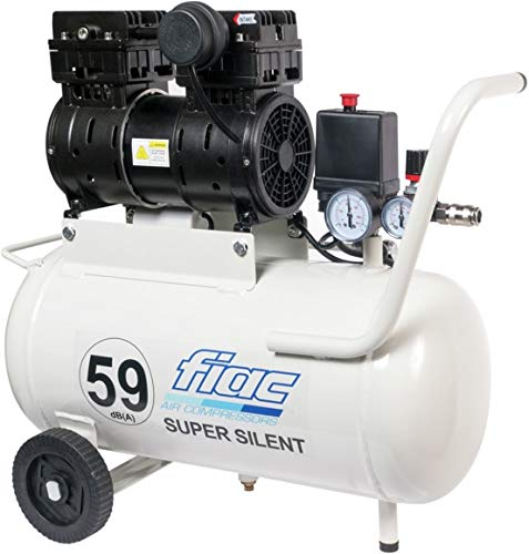 COMPRESSORE CARRELLATO SUPERSILENZIATO 24 LITRI FIAC SUPERSILENT 59