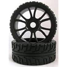 HSP - Ruedas Coche RC Buggy 1/8 Universales negras - SST180043