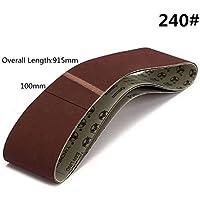Lifreer 3pcs 915x100mm 240 Grit Lijado Cinturones Herramientas Abrasivas