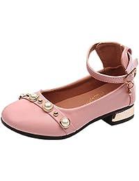 YanHoo Zapatos para niñas pequeñas Niñas Bebé Niñas Perlas sólidas Princesa Zapato Zapatilla de Deporte Informal