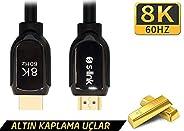 S-link SL-H8K01 HDMI 1.5m 8K 60Hz 4K 120Hz Ultra HDR 2.1V 7680P Metal Kılıflı Kablo