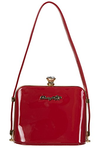 Dancing Days by Banned Schultertasche DARK BLOOMS HANDBAG 7068 Red