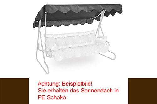 Angerer 805/10 Sonnendach für Hollywoodschaukel, Polyethylen, braun, 210 x 145 x 1 cm (Outdoor-schaukel-ersatz)