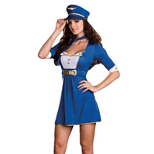 Blau Seemann Kind Kostüme (TYERY Blaue Rollenspiel Mit Sexy Party - Nacht Seemann - Ds -)