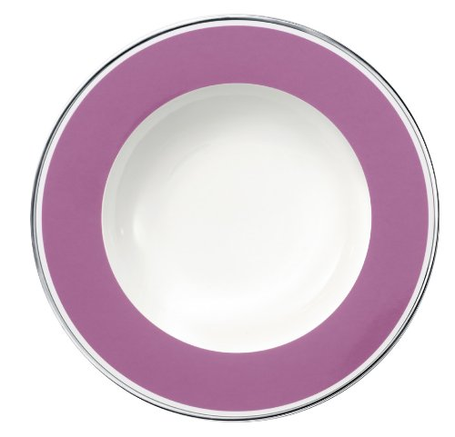 24cm Suppenteller 'Anmut My Colour' aus Premium Bone Porzellan Farbe: Pink Rose