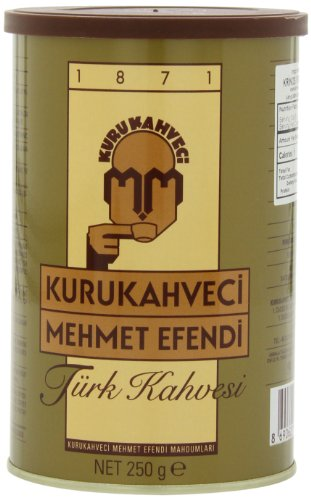 Mehmet Efendi Turkish Coffee, 250-Gram Cans (Pack of 2)