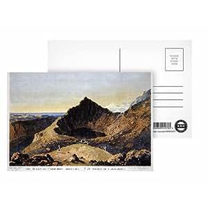 Art247 - The Summit of Cader Idris Mountain, 1775.. - Carte postale (paquet de 8) - 15,2 x 10,2 cm - Qualité supérieure - Dimensions standards