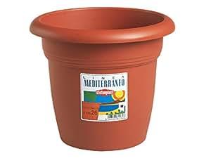 Stefanplast Vaso Plastica Tondo Colore Coccio Diametro 30