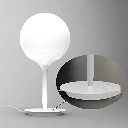 GTB Art moderne minimalistische Mode Persönlichkeit Schlafzimmer Nachttischlampe milchig-weiße Glaskugel , white