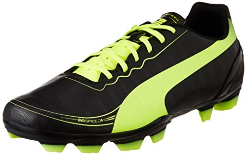 Puma evoSPEED 5.2 FG 102877, Herren Fußballschuhe, Schwarz (black-fluo yellow 01), EU 41 (UK 7.5) (US 8.5)