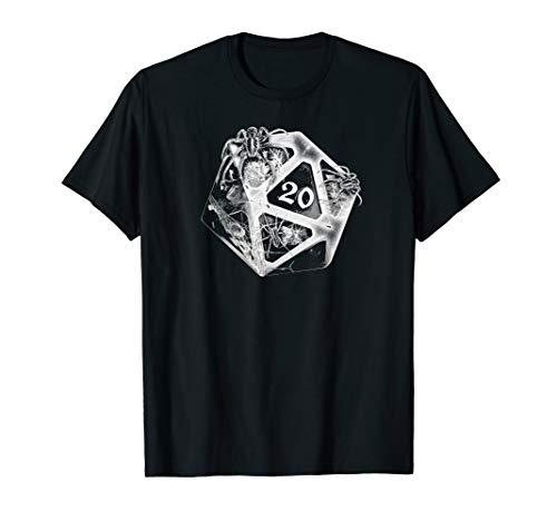 DND 20 Würfel Retro Halloween Kostüm Dungeons Spider Dragons T-Shirt (Dungeons And Dragons Kostüm)