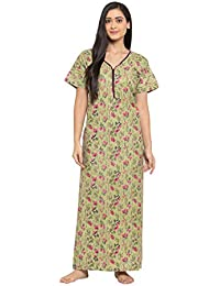 Fabme Women's Cotton Printed Nighty