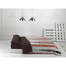 Juego de funda nórdica URBAN para cama de 180 cm - color marron