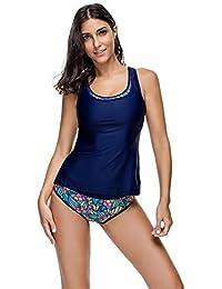 6e9481d83f7f FeelinGirl Tankini Retro Bikini Set Sportliche Swimwear Bademode Monokini  Badeanzug Damen Bauchweg