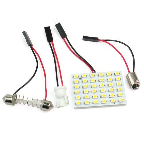 Rhx Panel für die Kfz-Innenraumbeleuchtung mit 36 SMD LEDs in Warmweiß, T10- und BA9S-Sockel / Adapter