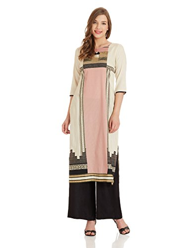 W for Woman Straight Kurta (17FE16576-58827_6_OFF WHITE)  available at amazon for Rs.849