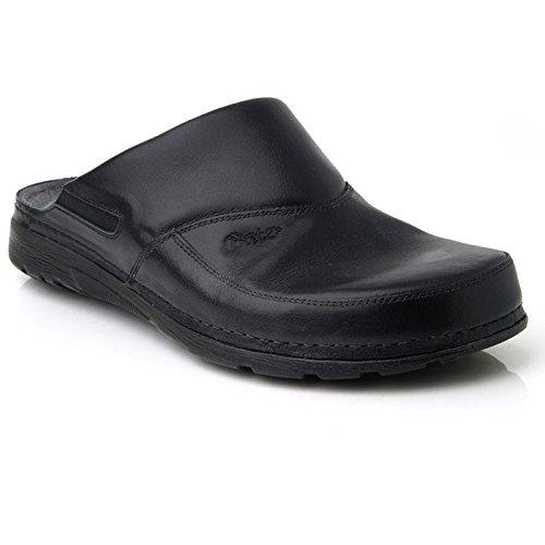 Batz PETER Hochwertigem Komfortschuhe, Lederschuhe, Pantolette, Clog, Herren Black