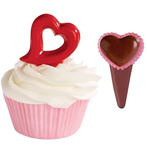 Wilton HEART Candy Confectionary Chocolate Pick Mold Mould Cupcake Decoration