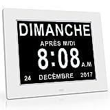 OLDTIME 8' LCD Horloge Numérique Calendrier Avec Date, Jour Et Heure | Horloge...