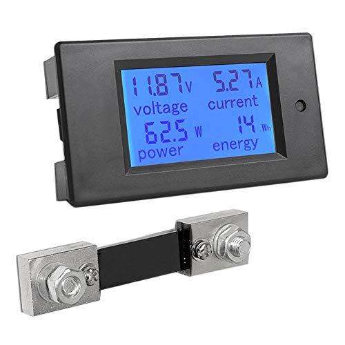 TOOGOO DC 6,5-100 V 0-100A LCD Digital Anzeige Amperemeter Voltmeter Multimeter Volt Leistungs Messer Stromz?hler Blau, 100A / 75MV Shunt -
