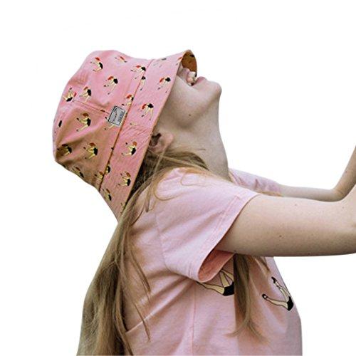 Fresh, da donna, elegante, con protezione raggi UV, pieghevole, in cotone, estivo, motivo: Cappello da pescatore per pesca, escursionismo, viaggio, campeggio, Beach-Cappello da bicicletta, Topee Cappello da sole Rosa rosa