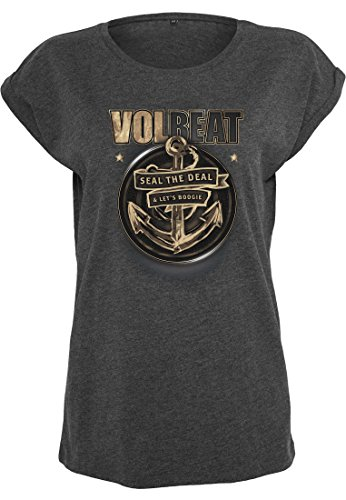 Ladies Volbeat Seal The Deal Tee charcoal XS