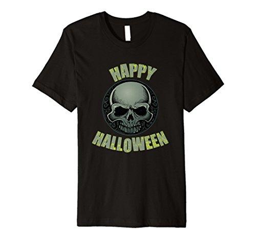 (Happy Halloween Scary Skull Skeleton T Shirt)