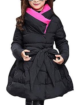 Ragazza Bambini Giubbotto Manica Lunga Giubbotti Parka Cappotto Imbottito Lunga Giacche