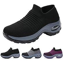 Funnie Zapatillas Deportivas de Mujer Deportivas Correr Gimnasio Casual Zapatos Running Caminar Mesh Transpirable Aumentar Más