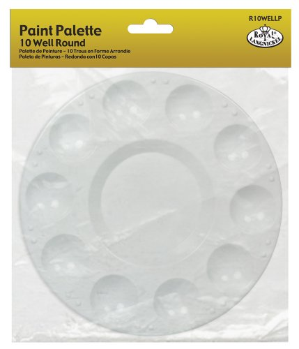 Royal & Langnickel 10 Well Round Plastic Palette Test